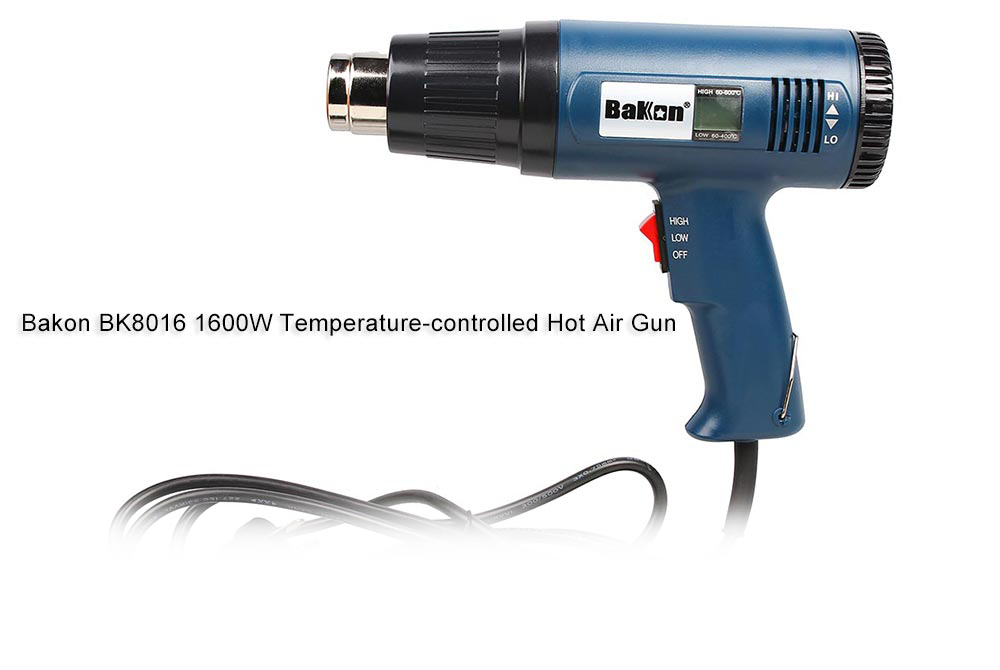 Bakon BK8016 1600W Hot Air Gun with LCD Screen Display