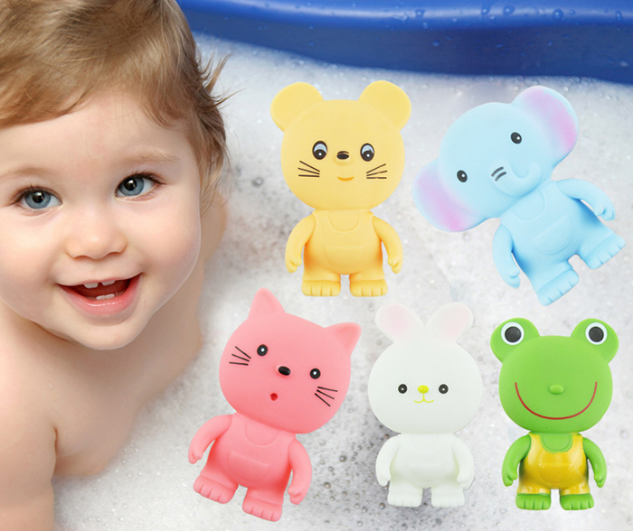 1pc Lovely Cartoon Animal Bath Squeeze Water Spray Shower Toy for Kid