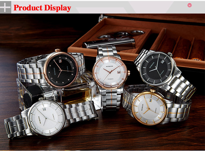 OCHSTIN Automatic Mechanical Male Watch with 21 Pieces Ruby Bearing