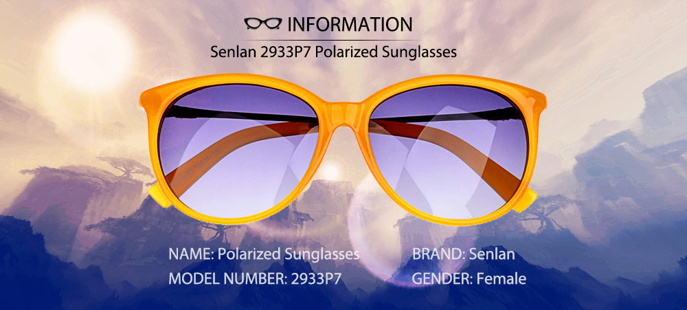 Senlan 2933P7 Female Fashion Trend Personalized Round Frame Sunglasses