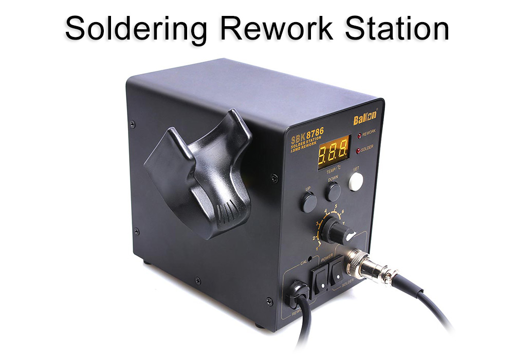 Bakon SBK8586 LED Soldering Rework Station 700W Hot Air Gun for Soldering