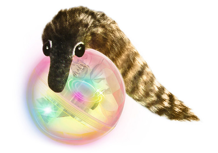 Creative Beaver Ball Bath LED Light Flashing Shower Toy for Child
