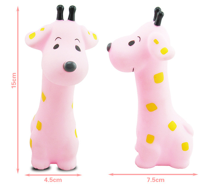 1pc Lovely Giraffe Bath Squeeze Water Spray Shower Toy for Kid