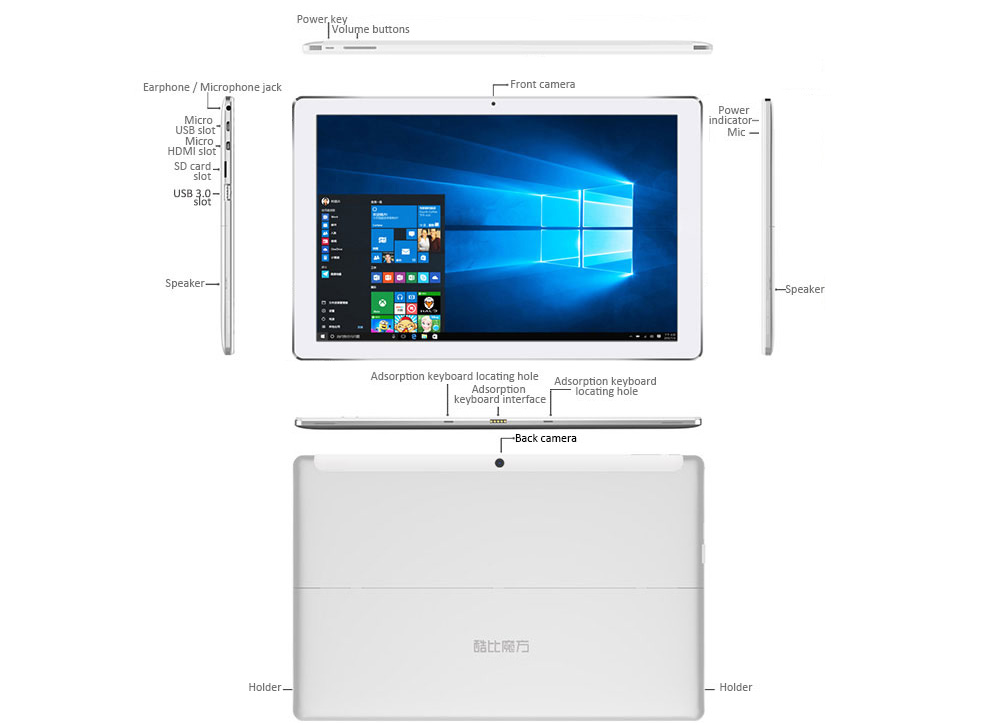 CUBE iwork12 2 in 1 Tablet PC