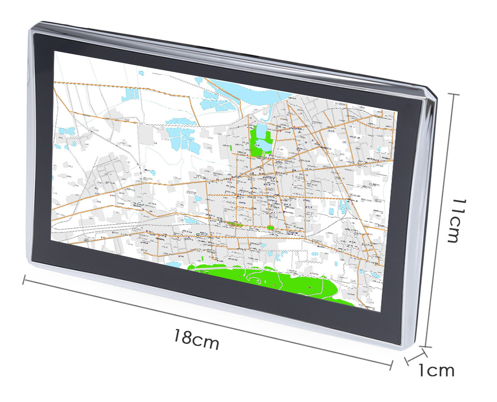 X7 7 inch Truck Car GPS Navigation Navigator with Free Maps Win CE 6.0 / Touch Screen / E-book / Video / Audio / Game Player