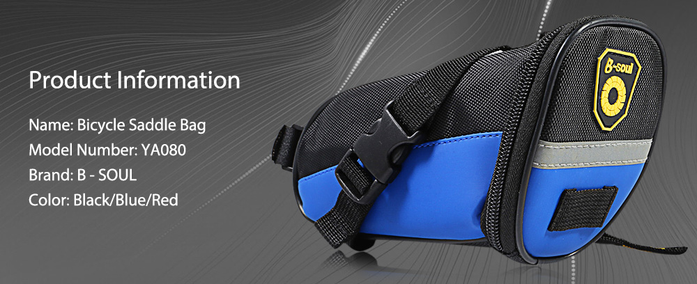 B - SOUL YA080 Scratch Resistant Bicycle Saddle Bag