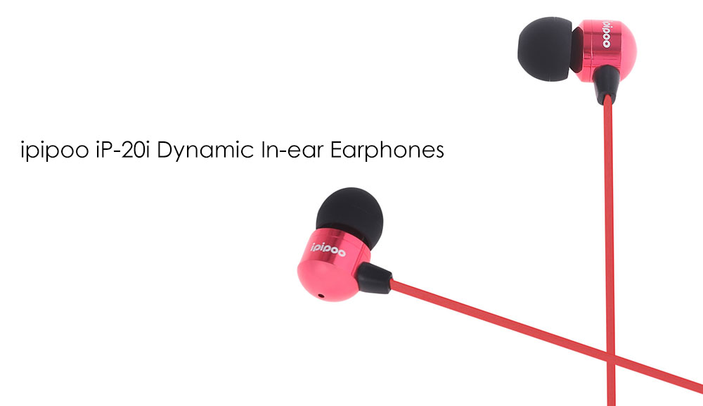 ipipoo iP - 20i Dynamic In-ear Earphones with Mic Song Switch