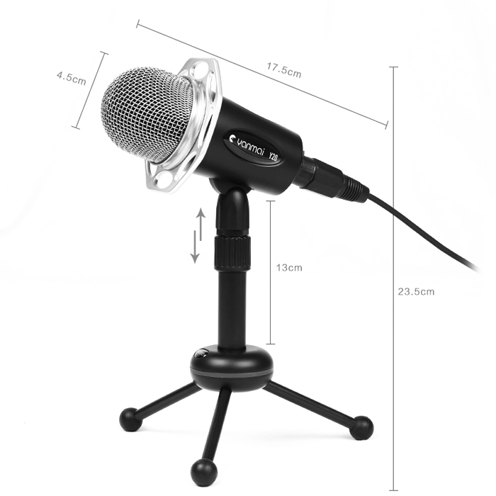 Yanmai Y20 3.5mm Stereo Microphone Mic Recording for PC Laptop