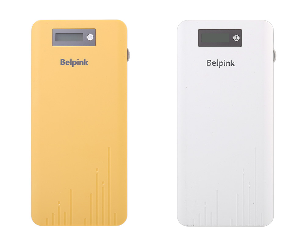 Belpink BP13 10000mAh Quick Charge Portable Power Bank with LCD Display Screen LED Flash Light Indicators