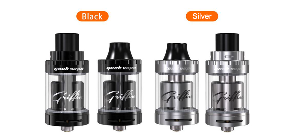 Original GeekVape Griffin 25 Mini RTA 3ml E Cigarette Rebuildable Tank Atomizer with Adjustable Top and Bottom Airflow Holes