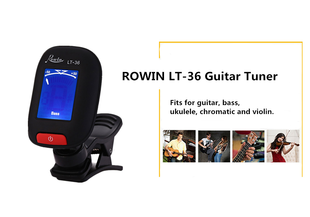 ROWIN LT - 36 LCD Screen Clip Guitar Electric Tuner for Musical Instrument