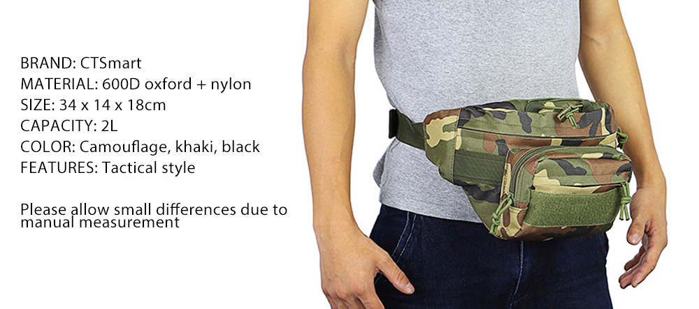 CTSmart 2L Trekking Waist Bag for Outdoor Sports