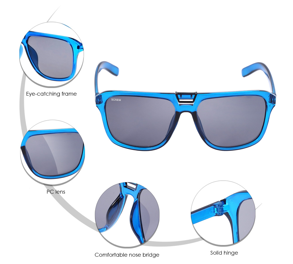 SENLAN 8001C6 Lightweight Sunglasses with PC Lens
