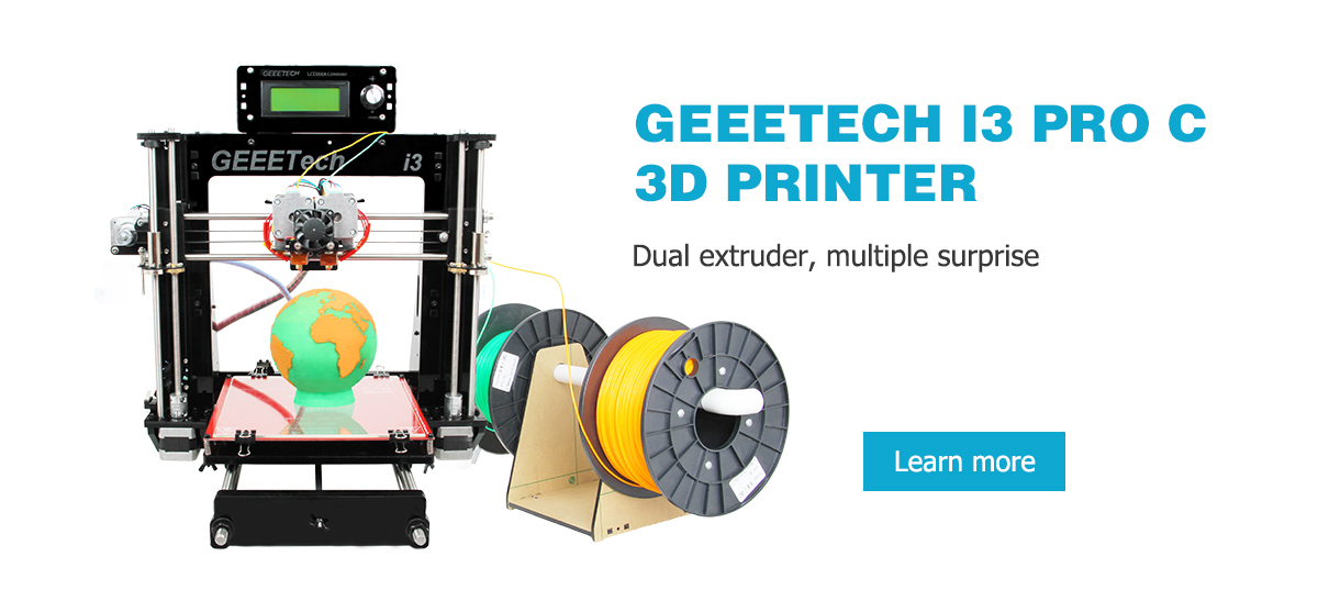 Geeetech I3 Pro C 3D Desktop Printer Kit LCD Screen Display with SD Card Off-line Printing Function