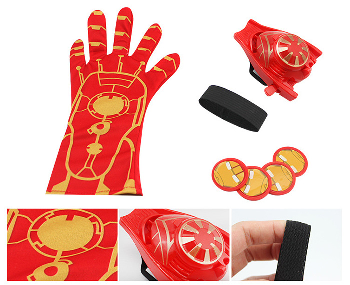 Glove Launcher with Four Frisbee Masquerade Birthday Gift Kid Toy