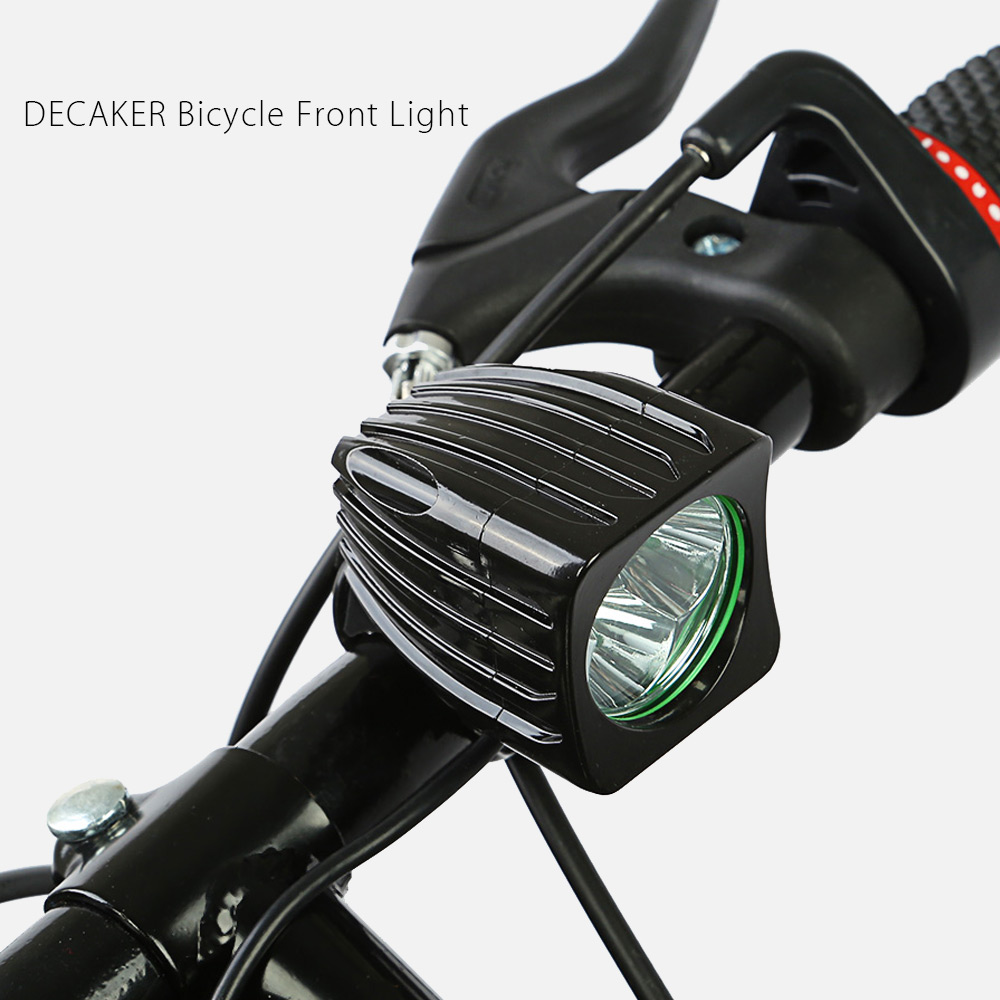 DECAKER XML - T6 1500LM 3 LEDs 4 Modes Square Bicycle Front Light