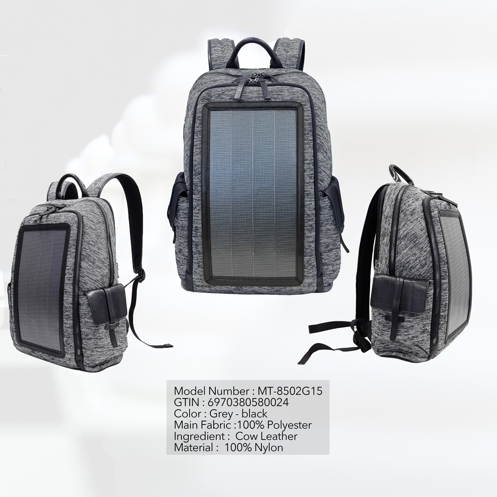 MAYTREE 25L Outdoor Camping Hiking Cycling Backpack with 7W Solar Panel