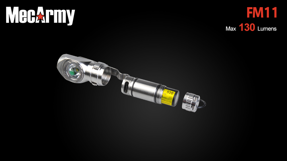 MecArmy FM11 Cree XP - G2 S4 130Lm Rechargeable Stainless LED Flashlight