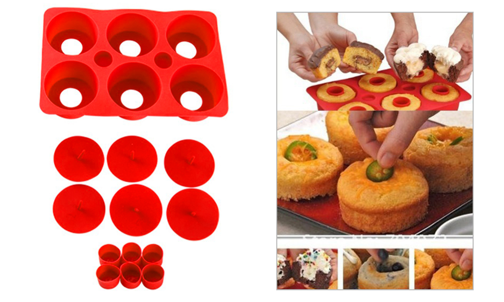 KC - 1012 Silicone DIY Cupcake Maker Assemble Mold Candies Chocolate Biscuit Manual Tool