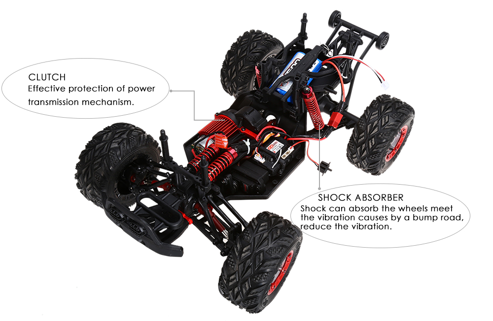 FEIYUE FY - 04 1 / 12 Full Scale 4WD 2.4G 4 Channel High Speed Crossing Car Off Road Racer