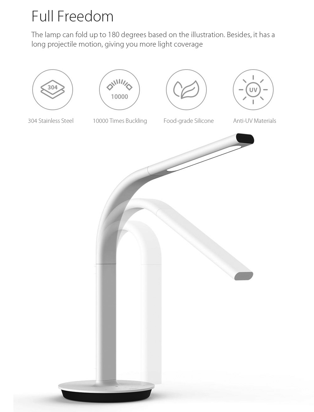Original Xiaomi Philips Eyecare Smart Lamp 2 App Dimming 4 Lighting Scenes