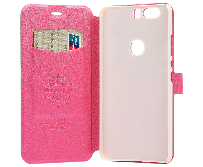ASLING Protective Full Body Flip Case for Huawei Honor V8 PU Leather Shell with Stand Card Slot