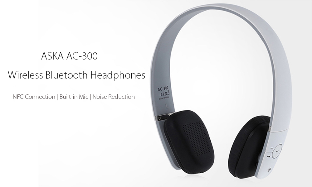 ASKA AC - 300 Stereo Bluetooth Headphones Built-in Mic Support NFC Connection