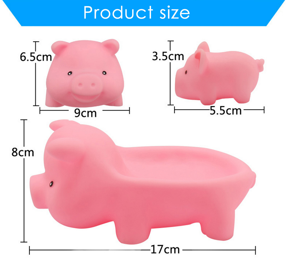 4pcs Lovely Pig Pattern Bath Shower Toy Squeeze Water Spray for Kid