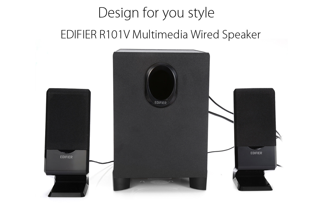 EDIFIER R101V Multimedia Wired Speaker Media Music Player with 3.5mm Audio Output