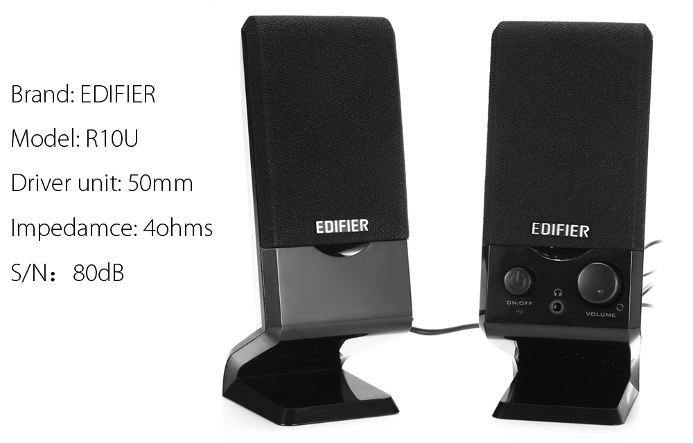 EDIFIER R10U Double-horn Multimedia Speaker Wired Audio Player with Volume Control