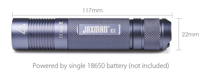 JAXMAN E2 350LM Nichia 4000K 18650 EDC LED Flashlight