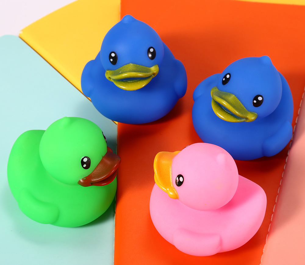 6pcs Lovely Duck Bath Squeeze Water Spraying Shower Toy for Kid Infant