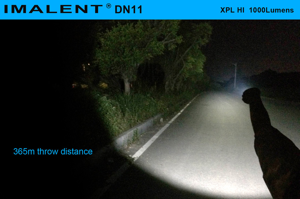 IMALENT DN11 Cree XPL HI 1000Lm Rechargeable LED Flashlight LCD Stepless Dimming