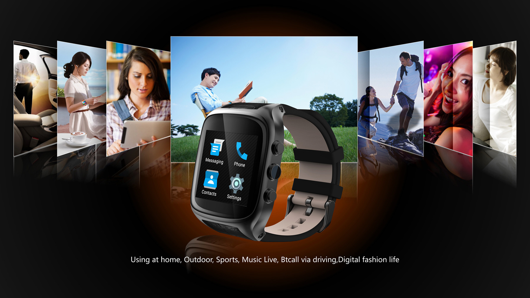 Ourtime X01S Android 5.1 1.54 inch 3G Smartwatch Phone MTK6572 1.3GHz Dual Core 1GB RAM 8GB ROM Waterproof GPS Gravity Sensor