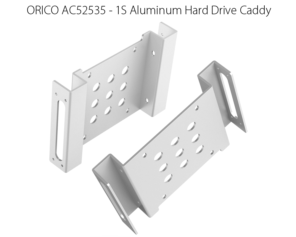 ORICO AC52535 - 1S Aluminum 5.25 inch to 2.5 or 3.5 inch Hard Drive Caddy Fit for HDD / SSD