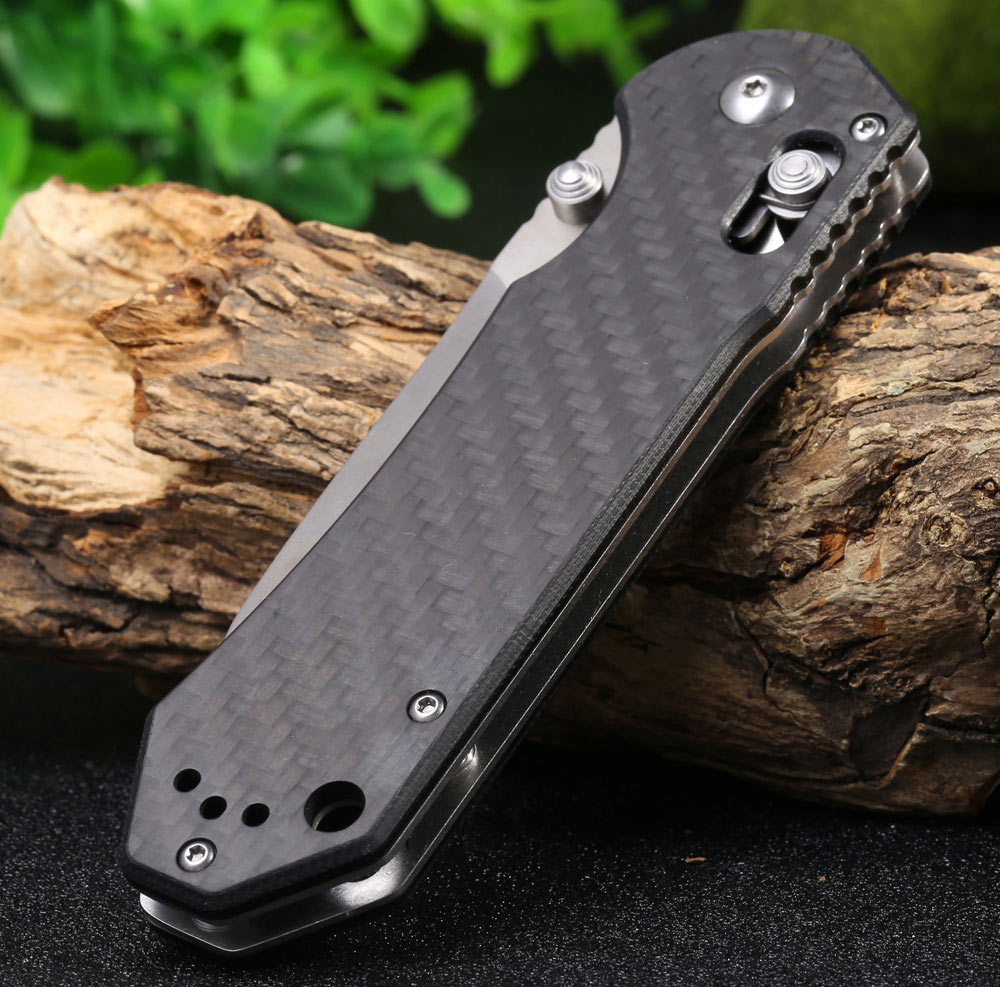 GANZO G7451 - CF Axis Lock Folding Knife with Carbon Fiber Handle