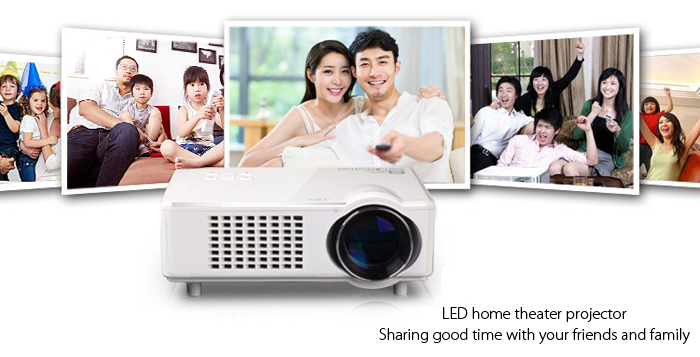 T928 LCD Projector 3000 Lumens 1280 x 768 Pixels with VGA / HDMI / USB / SD Card Slot