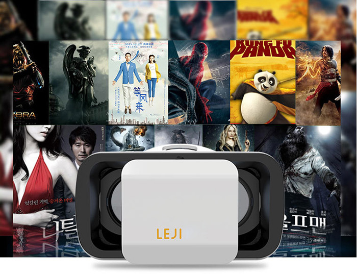 LEJI VR Mini 3D Glasses Virtual Reality Headset Private Theater Game Video for 4.7 - 6.0 inch Smartphone