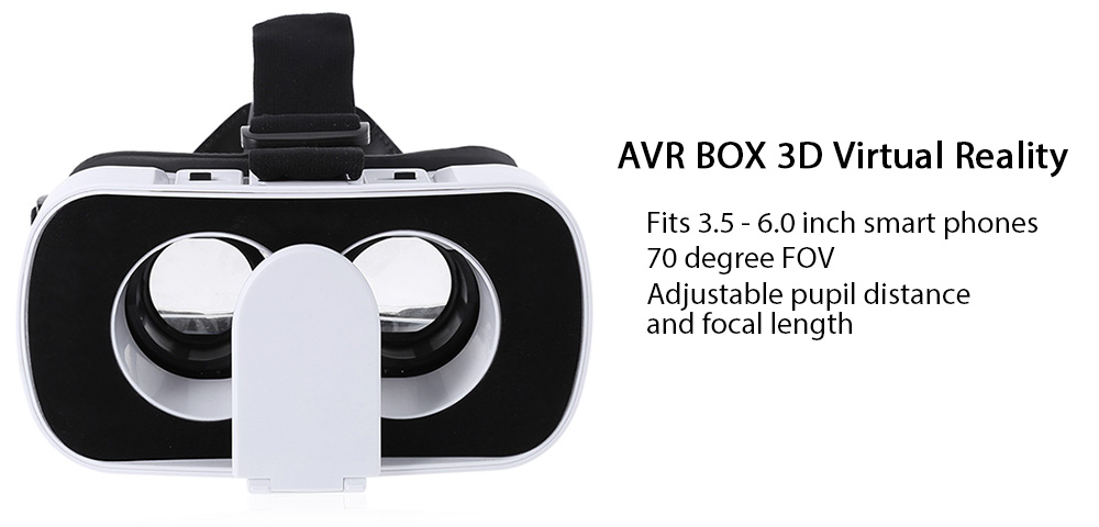 AVR BOX 3D VR Glasses Virtual Reality Headset Private Theater Game Video for 3.5 - 6.0 inch Smartphone