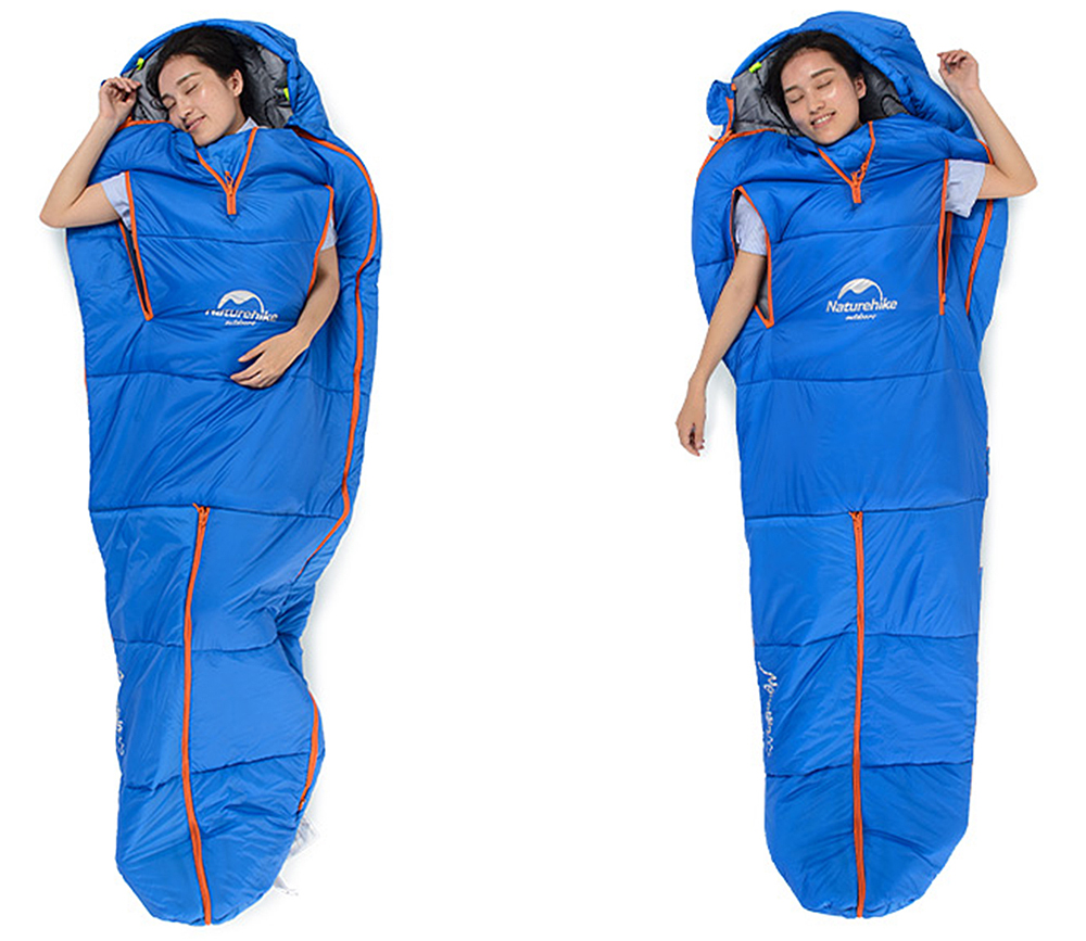 Naturehike Human-shaped Cotton Sleeping Bag for Outdoor Camping / Home 210 x 80cm