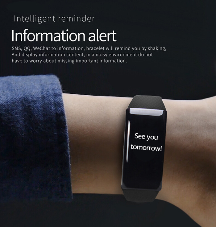 B5 Heart Rate Monitor Smart Watch with Sleeping Track Calls Reminder Alarm Clock