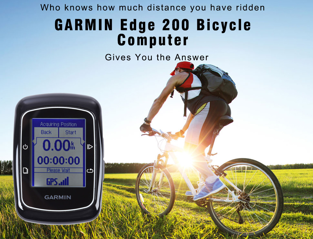 GARMIN Edge 200 GPS Satellite Positioning Bicycle Computer Virtual Partner Route Challenge