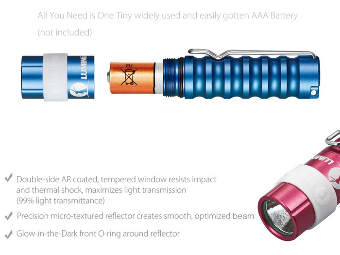Lumintop Colored Worm 4.0 Cree XP - G2 R5 110LM AAA LED Flashlight