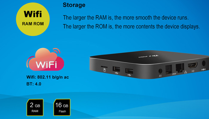 TX5 Pro TV Box Quad Core Amlogic S905X H.265 Android 6.0 2.4G 5.8G Dual WiFi 2GB RAM 16GB ROM