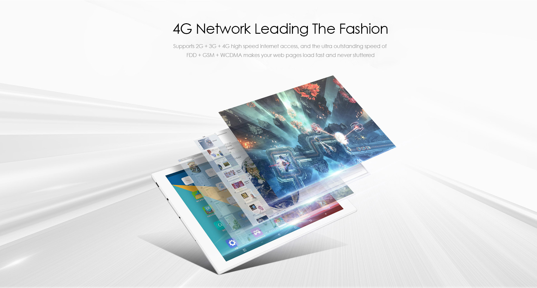 Teclast T98 4G Android 5.1 Phone Tablet PC MTK8735P Quad Core 1.0GHz 10.1 inch Screen 1GB RAM 16GB ROM Bluetooth 4.0 GPS Dual WiFi