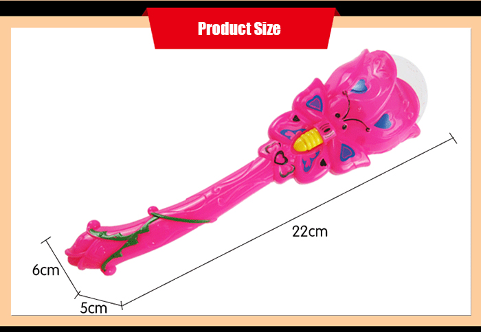 Butterfly Style Performance Accessory Magic Wand Flashing Toy - 1pc