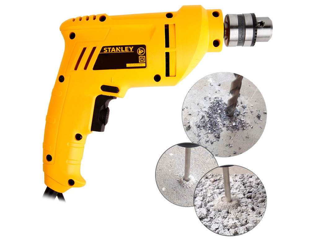 Original STANLEY STDR4010 - A9 Hand Electric Drill 400W 10mm Household Motor-driven Screwdriver