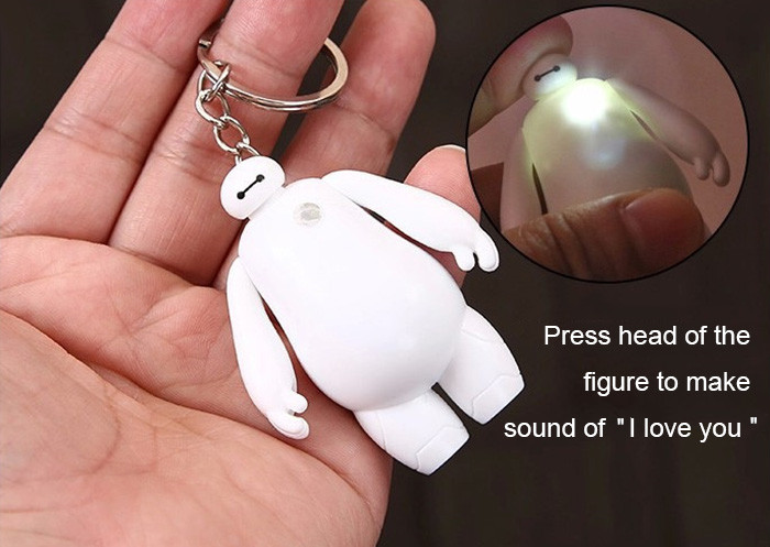 Machine Figure Key Chain Hanging Pendant ABS Movie Product Voice Light Control Bag Decoration