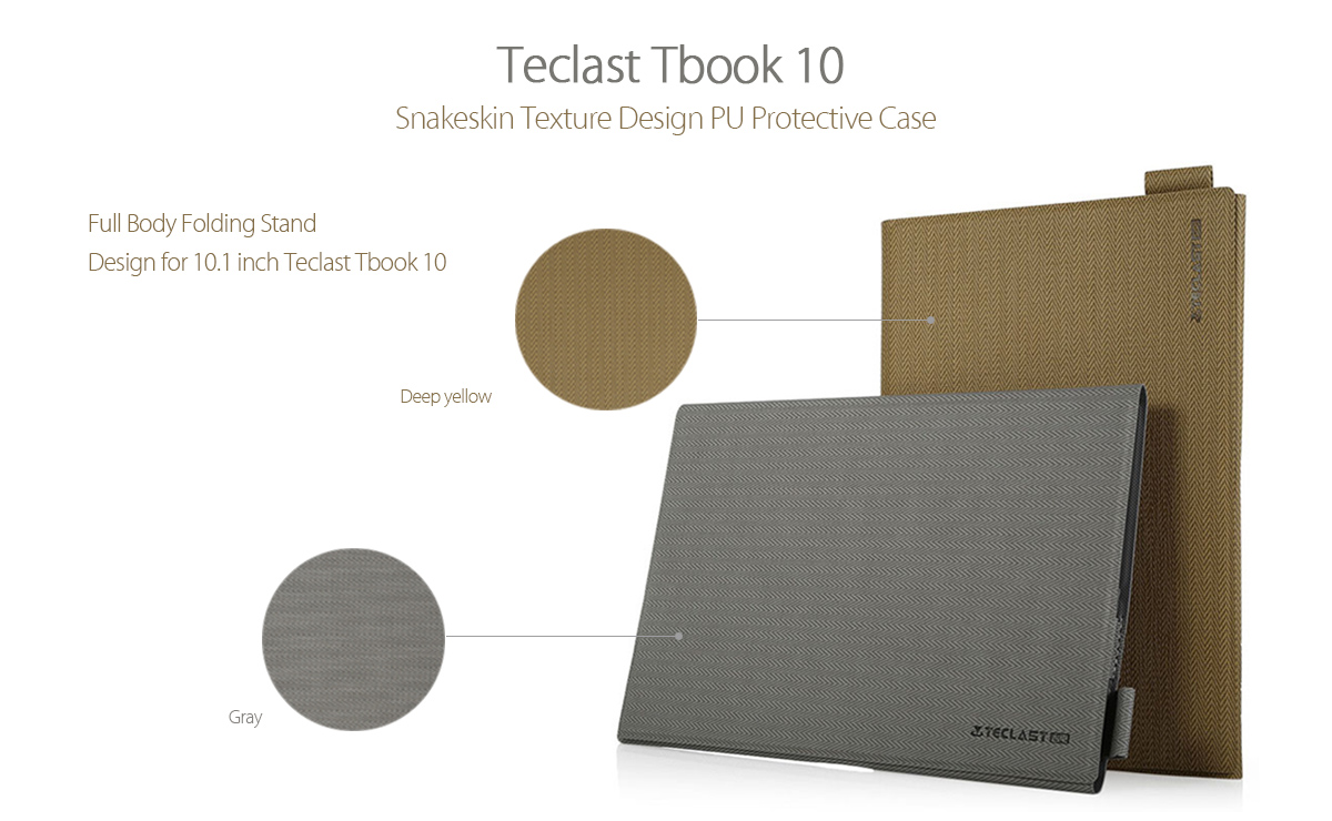 Snakeskin Texture PU Protective Case High Quality Full Body Folding Stand Design for Teclast Tbook 10