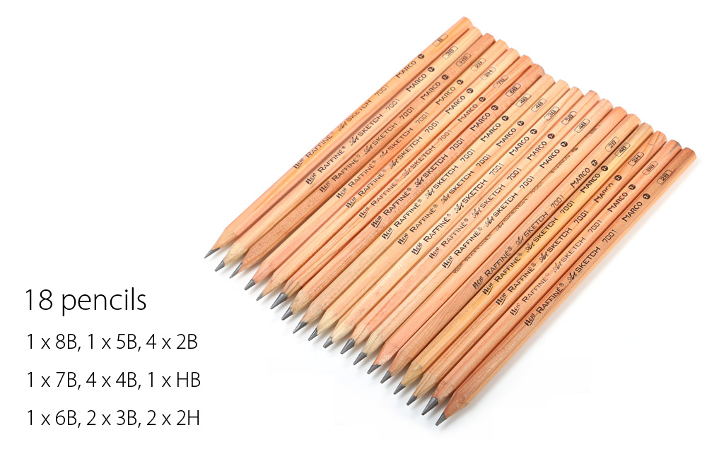 Marco 28 in 1 Pencil Set Drawing Tool for Artist Sketch